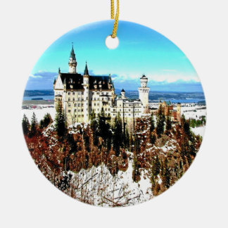 NEUSCHWANSTEIN CASTLE, GERMANY CERAMIC ORNAMENT