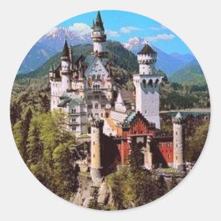neuschwanstein castle - germany round sticker