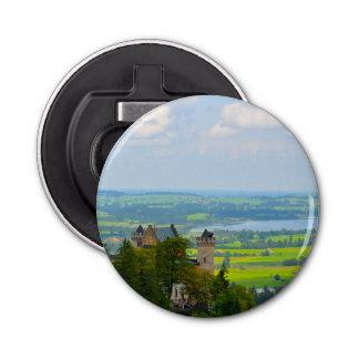 Neuschwanstein Castle in Bavaria Germany Button Bottle Opener