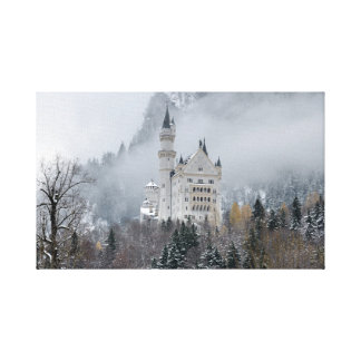Neuschwanstein castle in Bavaria, Germany Canvas Print