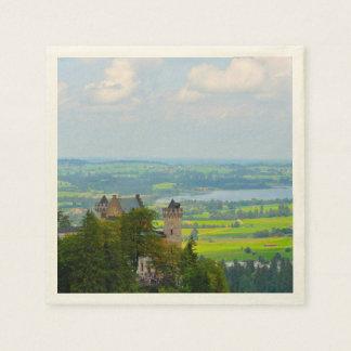 Neuschwanstein Castle in Bavaria Germany Disposable Napkins