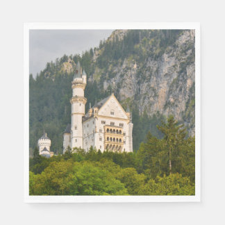 Neuschwanstein Castle in Bavaria Germany Disposable Napkins