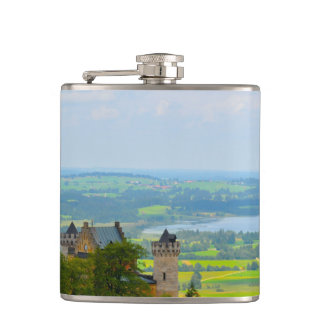 Neuschwanstein Castle in Bavaria Germany Hip Flask