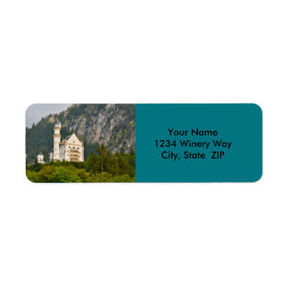 Neuschwanstein Castle in Bavaria Germany Return Address Label
