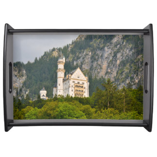 Neuschwanstein Castle in Bavaria Germany Serving Tray