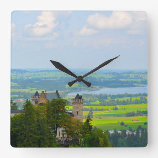 Neuschwanstein Castle in Bavaria Germany Square Wall Clock