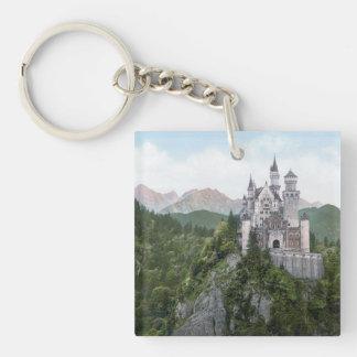 Neuschwanstein Castle Lithograph Keychain