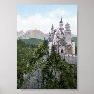 Neuschwanstein Castle Lithograph Poster