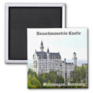 Neuschwanstein Castle – Schwangau, Germany Square Magnet