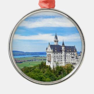 neuschwanstein castle Silver-Colored round ornament