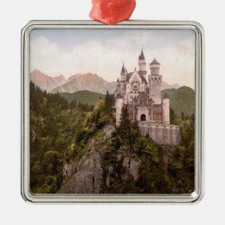 NEUSCHWANSTEIN CASTLE Silver-Colored SQUARE ORNAMENT