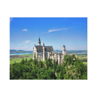 Neuschwanstein Castle Stretched Canvas Print