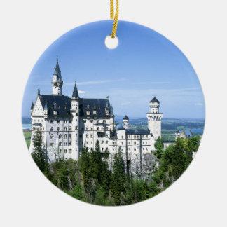 Neuschwanstein Round Ceramic Ornament