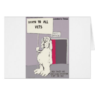 Neutered Dog Fights Back Funny Gifts & Tees Greeting Card