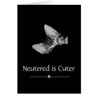 """Neutered is Cuter"" Greeting Card"