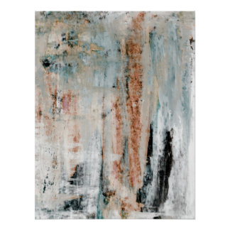 Neutral Abstract Art Poster Print