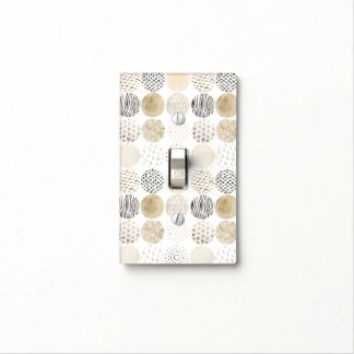 Neutral Abstract Circle Pattern Light Switch Cover
