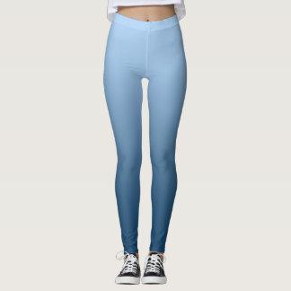 Neutral and Plain Gradient Blue Leggings