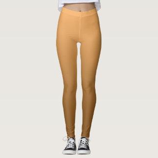 Neutral and Plain Gradient Golden Leggings