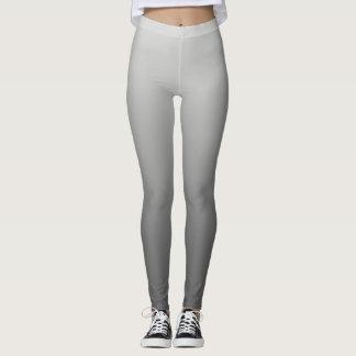 Neutral and Plain Gradient Grey Leggings