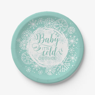 "Neutral Baby It's Cold Outside 7"" Paper Plate"