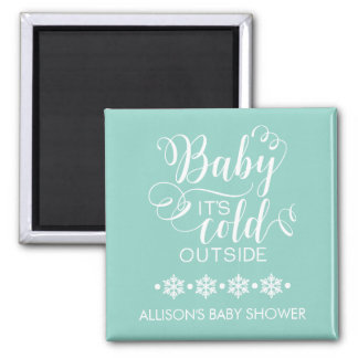 Neutral Baby It's Cold Outside Shower Favor Magnet