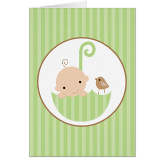 Neutral Baby Shower Thank You Card