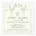 Neutral Birds Modern Family Couples Baby Shower