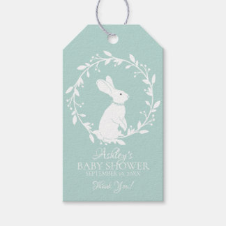 Neutral  Bunny Baby Shower Favor Gift Tag