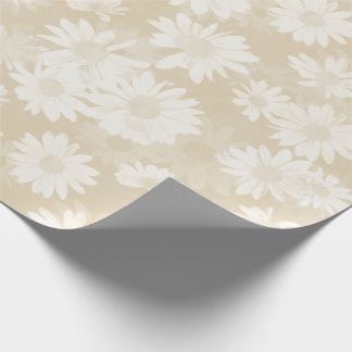 Neutral Daisies Wrapping Paper