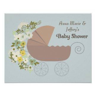 Neutral Gender Baby Shower Party Poster