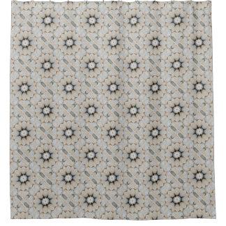 Neutral Grey and Taupe Stone Flower Mandala Design