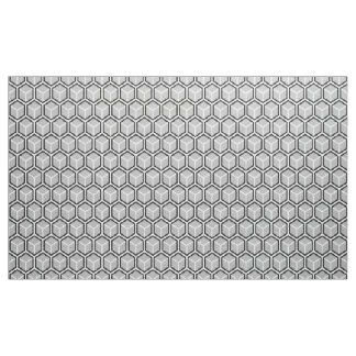 Neutral Grey Honeycomb Print Fabric