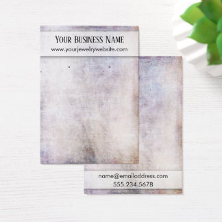 Neutral Grunge Earring Holder Display Card