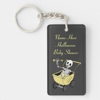 Neutral Little Skeleton Baby Shower  Key Chain