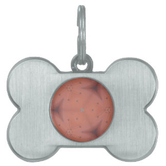Neutral Peach Abstract Pattern Pet Name Tag