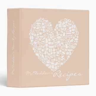 Neutral Personalized Name Family Recipe Binder