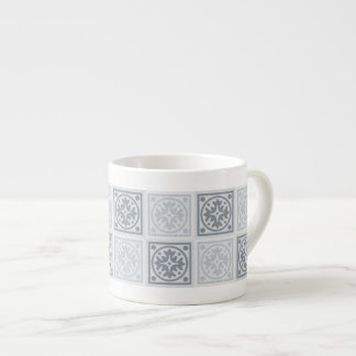 Neutral Shades of Blue and Grey Espresso Cup