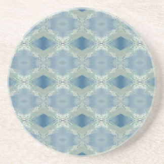 Neutral Shades of Blue Gray Pattern Coaster