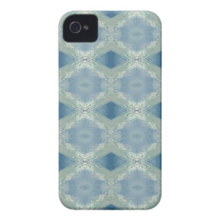 Neutral Shades of Blue Gray Pattern iPhone 4 Case-Mate Cases