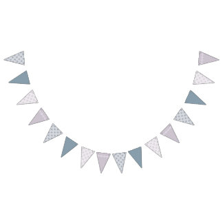 Neutral Shades Soft Patterns Bunting Flags