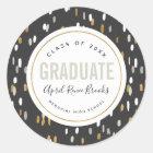 Neutral Shine Personalized Graduation Stickers