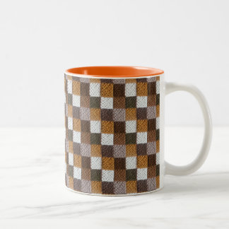 Neutral Squares Blanket 11 oz Two-Tone Mug