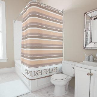 Neutral Stripes Shower Curtain