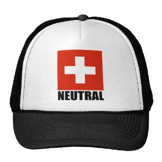 NEUTRAL (Swiss Flag) Cap Trucker Hat
