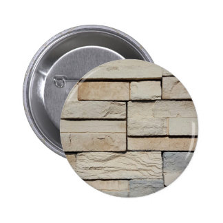 Neutral Ted Randomly Placed Brick Pattern 2 Inch Round Button