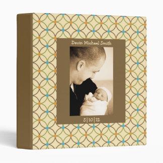Neutral Tones Interlocking Loops Baby Book Binder