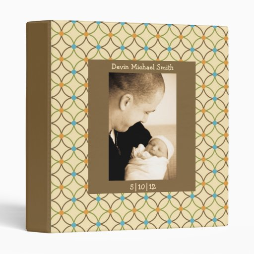 Neutral Tones Interlocking Loops Baby Book Vinyl Binders