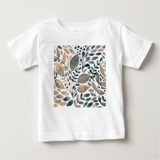 Neutral watercolor leaves baby T-Shirt