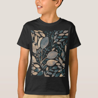Neutral watercolor leaves T-Shirt